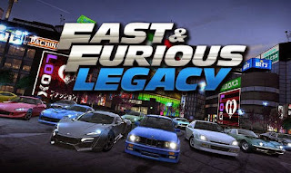 Screenshots of the Fast and furious: Legacy for Android tablet, phone.