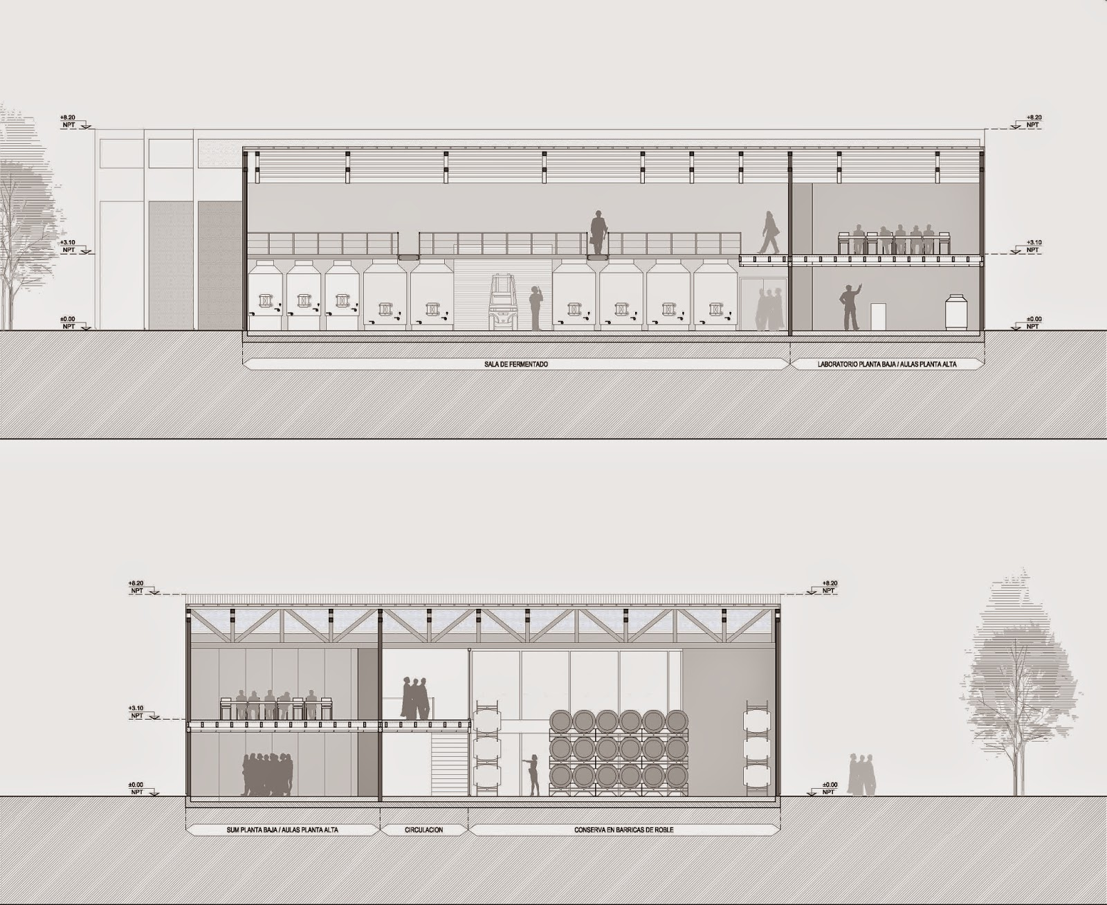 Bodega escuela hotel en mendoza arquitectura 4 2014 for Arquitectura nota de corte