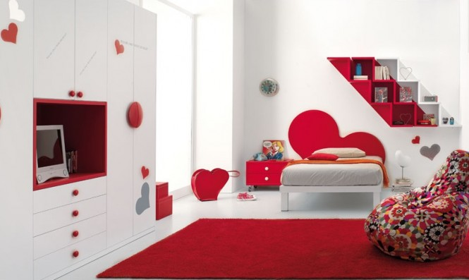 Hogares frescos dise os espectaculares de habitaciones rojas - Entrancing pictures of red black and white teenage bedroom decorating design ideas ...