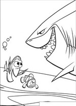 finding nemo coloring pages bruce evil shark - Finding Nemo Coloring Pages Bruce