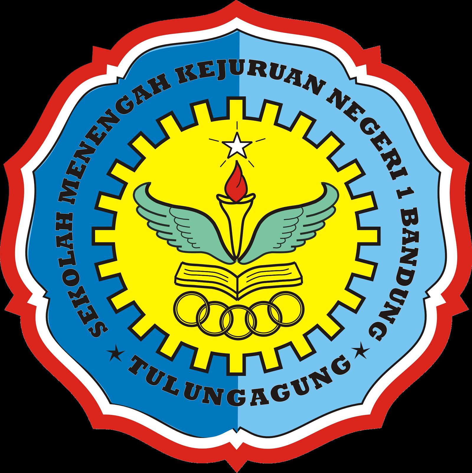 Logo SMKN 1 Bandung Tulungagung versi PNG besar (hanya logo saja, sekitar logo transparan)