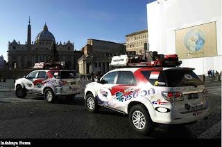 SUV Terbaik Tangguh Mencapai Roma, Italia