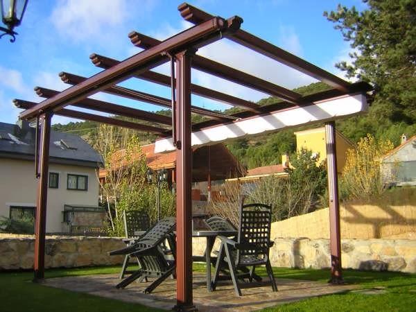 prgola de aluminio imitacin madera - Pergola De Aluminio