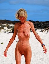 Annick à la plage