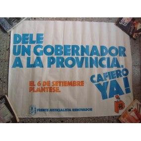 Orientaciones de Cafiero para la Campaña a la gobernación de 1987
