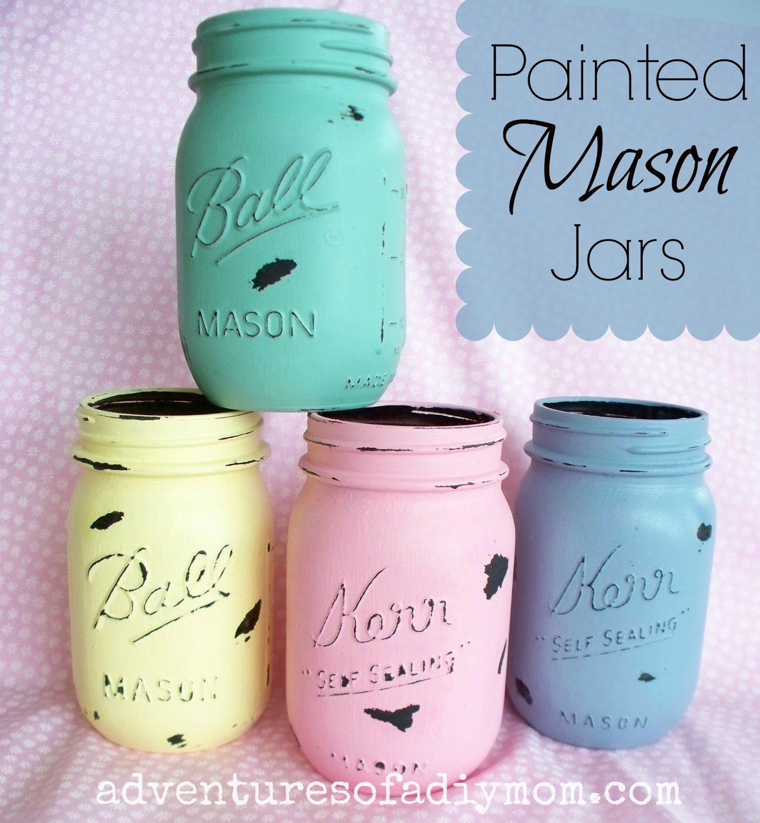 mason jars painted - photo #36