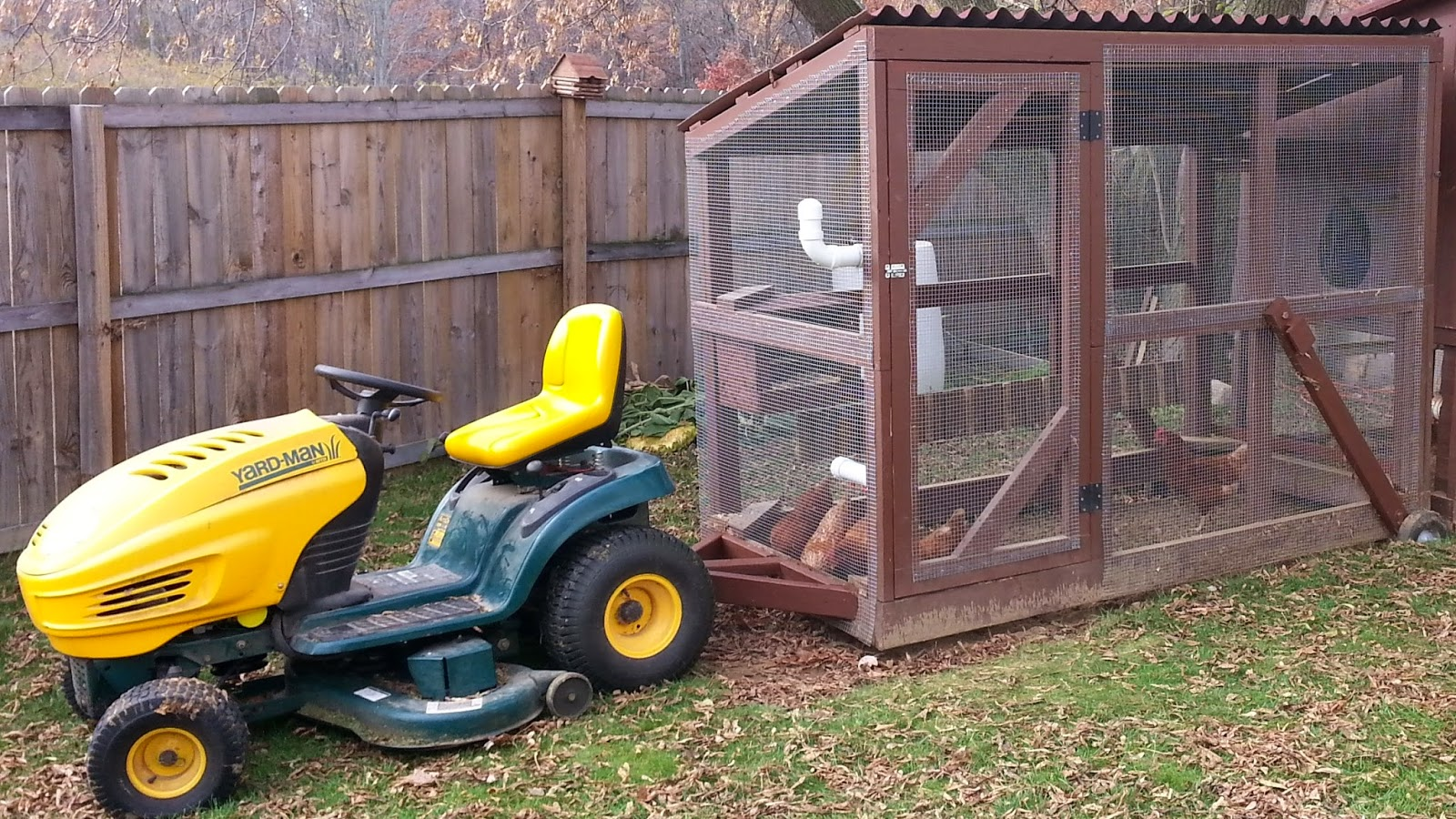Chicken Tractor - Construction of the Original Lawn Mower - 2 ~ Simple ...