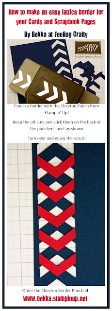 !How to make an easy lattice border for your cards and scrapbook pages