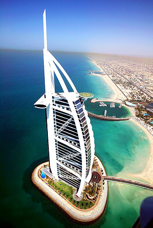 World visits sail building wonderful view for Sail hotel dubai