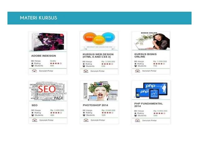 Materi Kursus Online yang bisa Anda dapatkan melalui Sekolah Pintar