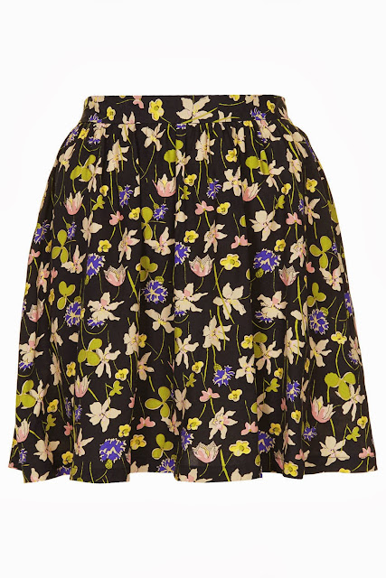 topshop flower skirt