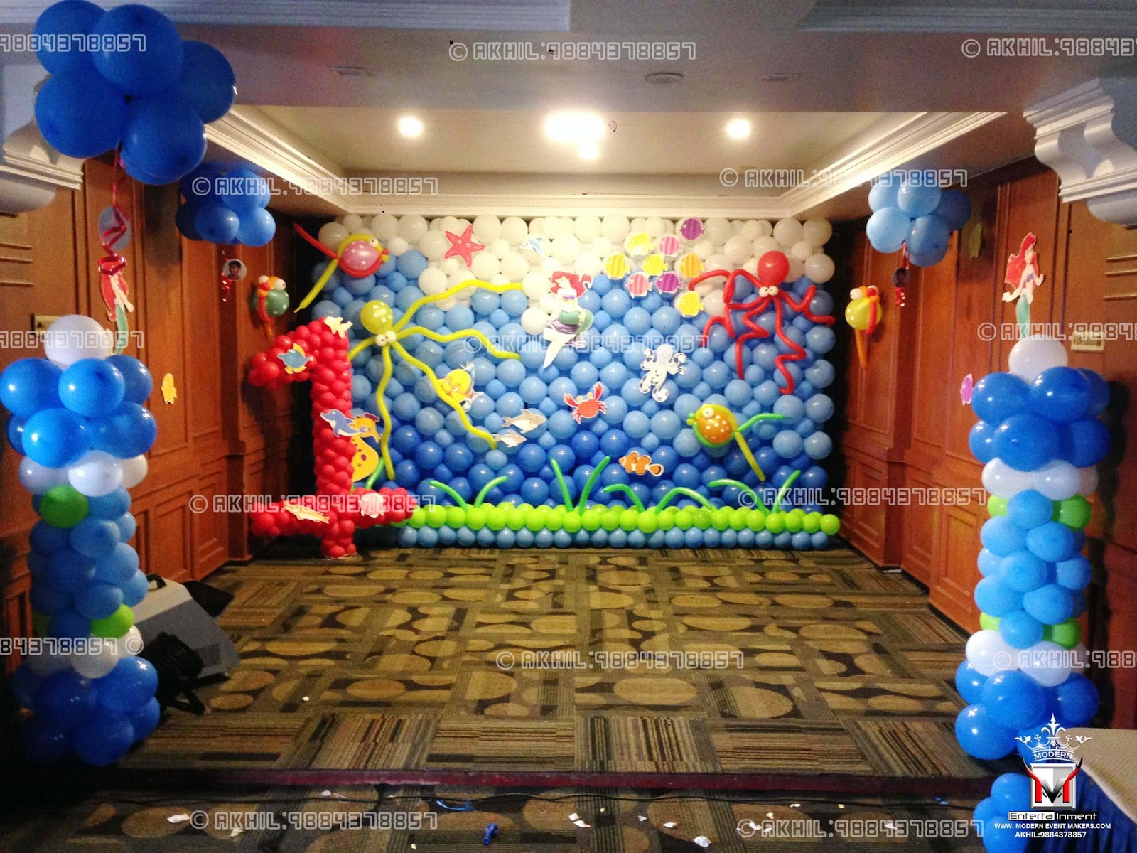 Event management company balloon decoration modern for Balloon decoration in chennai