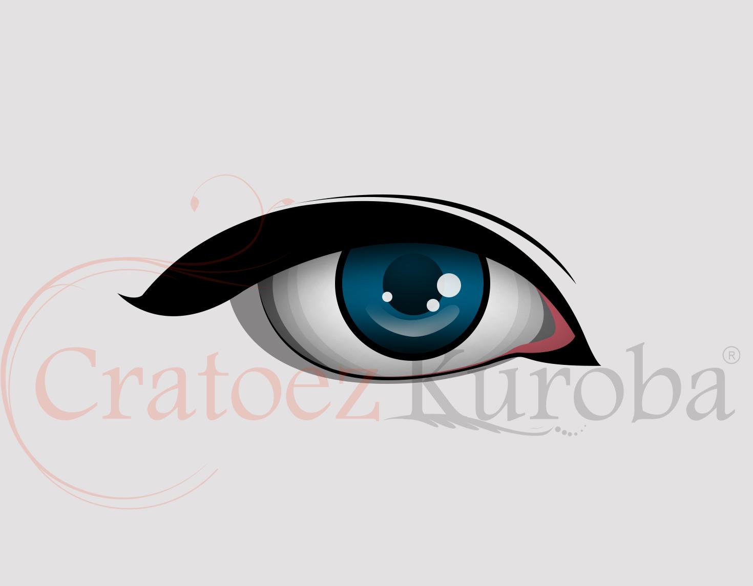Tutorial membuat vektor kartun photoshop part 2 coloring and shading - Membuat Vector Mata
