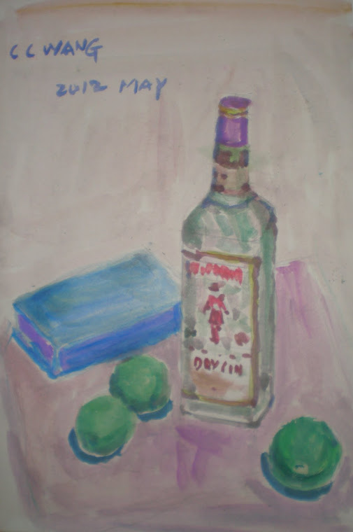 Water color , fruit,bottle 013