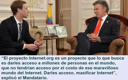 COLOMBIA: Presidente Santos destaca alianza con Facebook para llevar Internet a los más pobres del