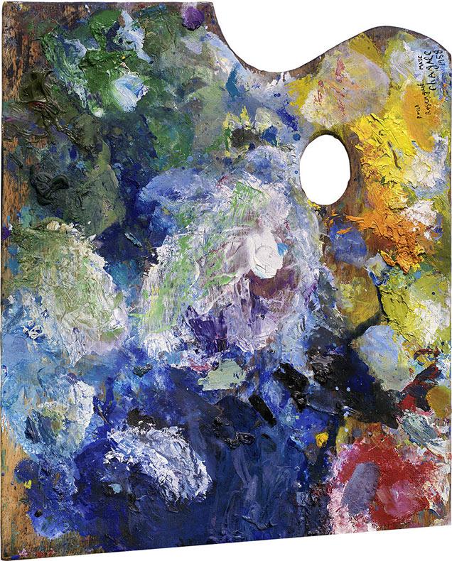 Retratos de paletas de pintura de famosos artista por Matthias Schaller