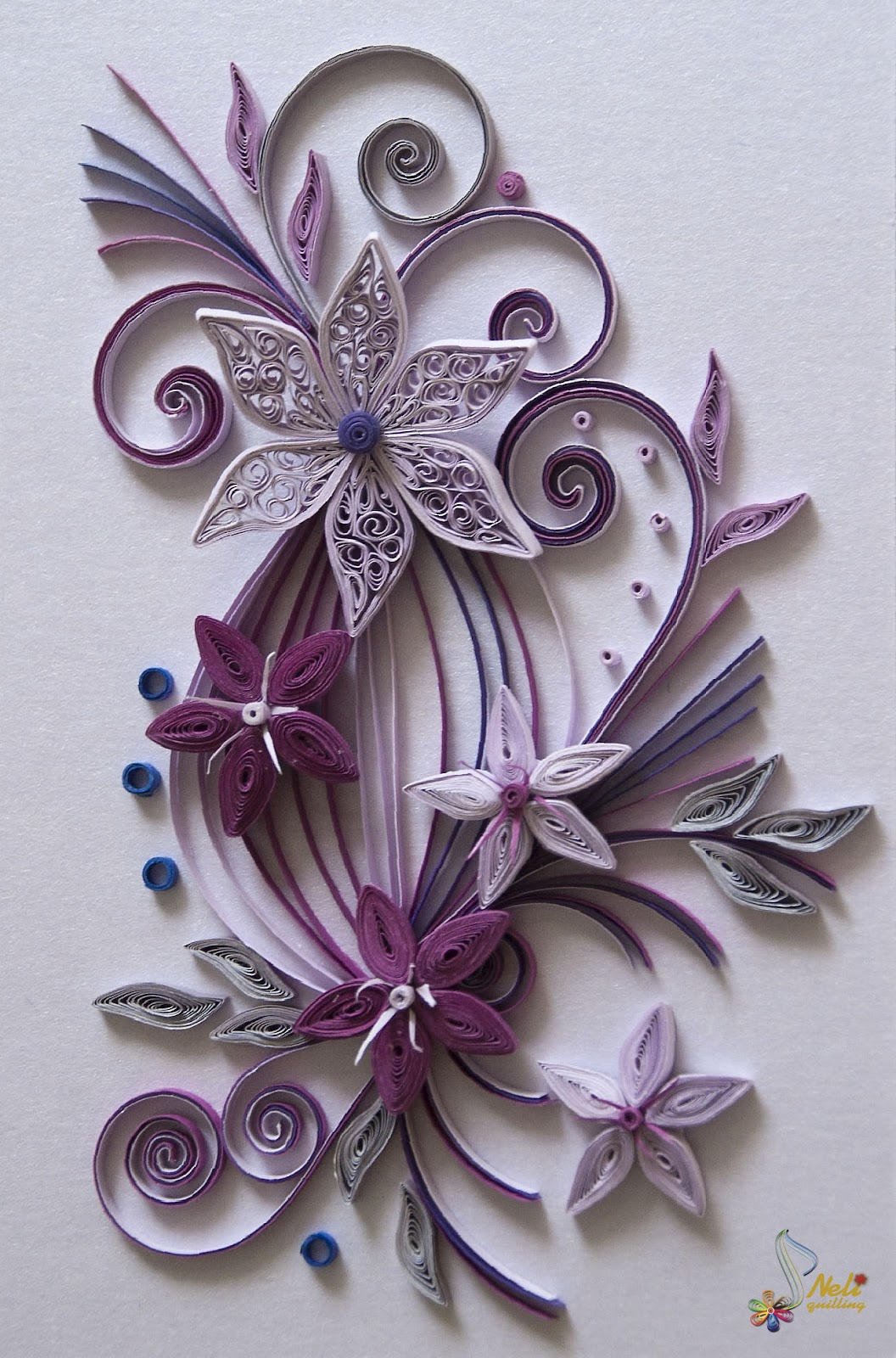 Neli Quilling Art Cards flowers