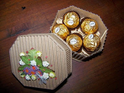 Floral gift box of chocolates 2