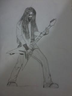 Guitarrista 2 (desenho)