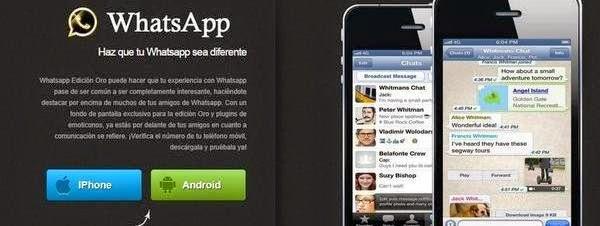 WhatsApp edición Oro, nuevo timo.