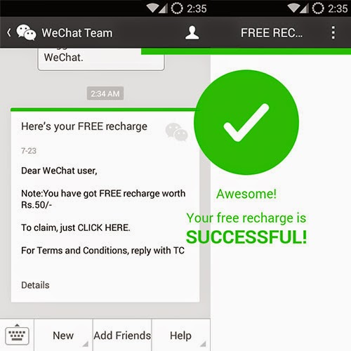Free WeChat Recharge: Day 8 of 100 Happy Days