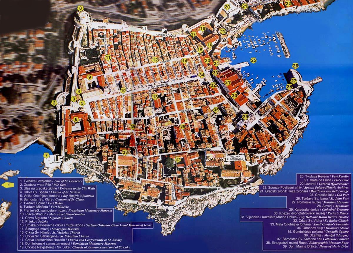Карта-Дубровника