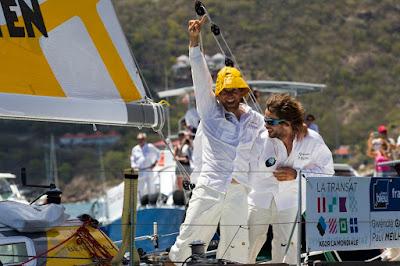 Gwénolé Gahinet et Paul Meilhat, vainqueurs de la dernière transat AG2R.