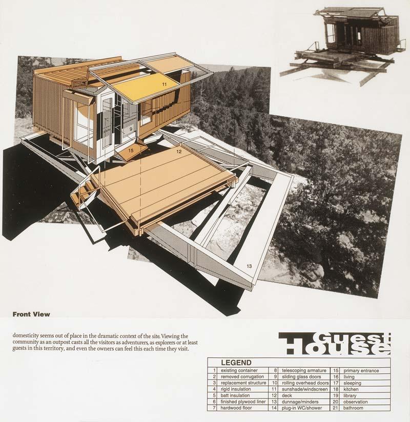 Primitive hut hesselink guest hut for Jones architecture