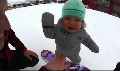 H πιο γλυκιά snowboarder στον κόσμο!