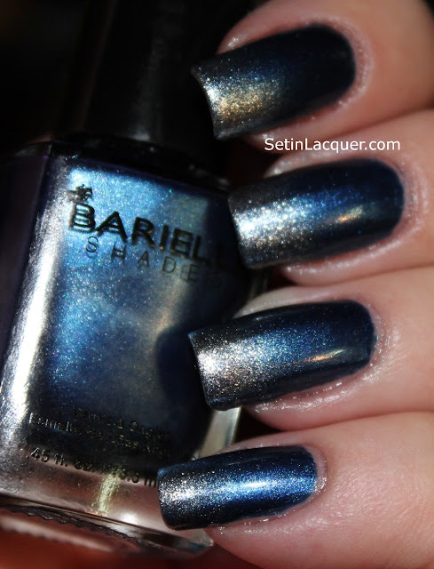 Gradient nail art using Barielle Jordana's Skinny Jeans and Gold digger