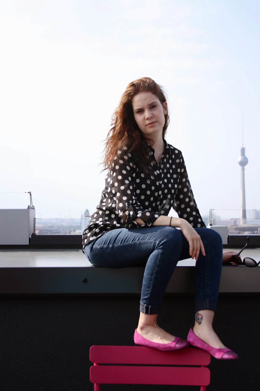 OOTD Clarks Ballerinas Flussperle Blog primark Urban Outfitters Berlin fernsehturm
