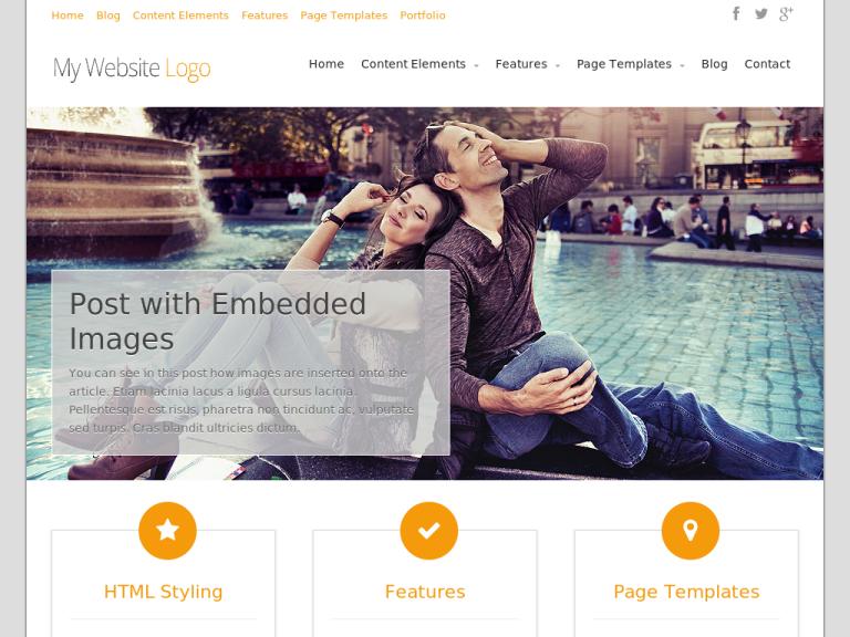 intiuition Free Portfolio WordPress themes 2014