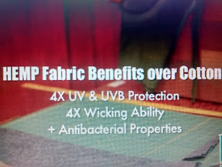 Hemp Fabric benefits: 4 times UV and UVB Protection, 4 times wicking ability plus Antibacterial Properties