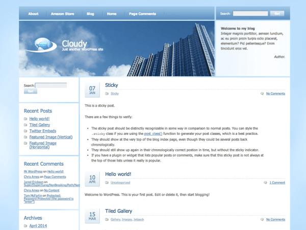 Cloudy WordPress Theme