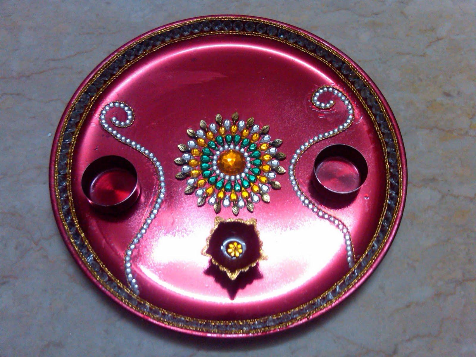 Ranjana arts www ranjanaarts com raksha bandhan pooja for Arti thali decoration