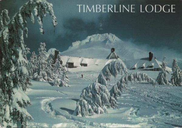 Timberline Lodge in heavy snow