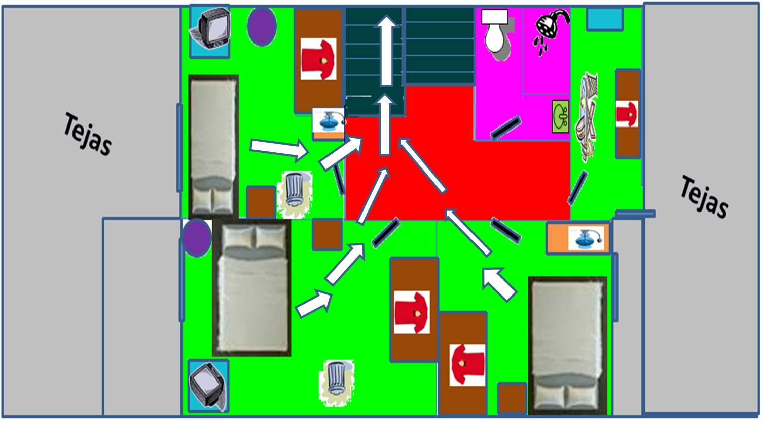Primeros auxilios y prevenci n de desastres mapa de mi casa for Como hacer un plano de mi casa