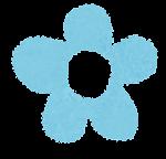 小さな花のイラスト「パステル・水色」