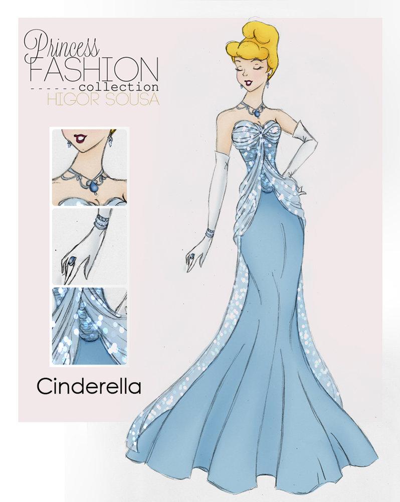 how to draw disney princess dresses