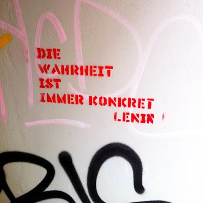 Die Antwort ist konkret Lenin streetart Hamburg