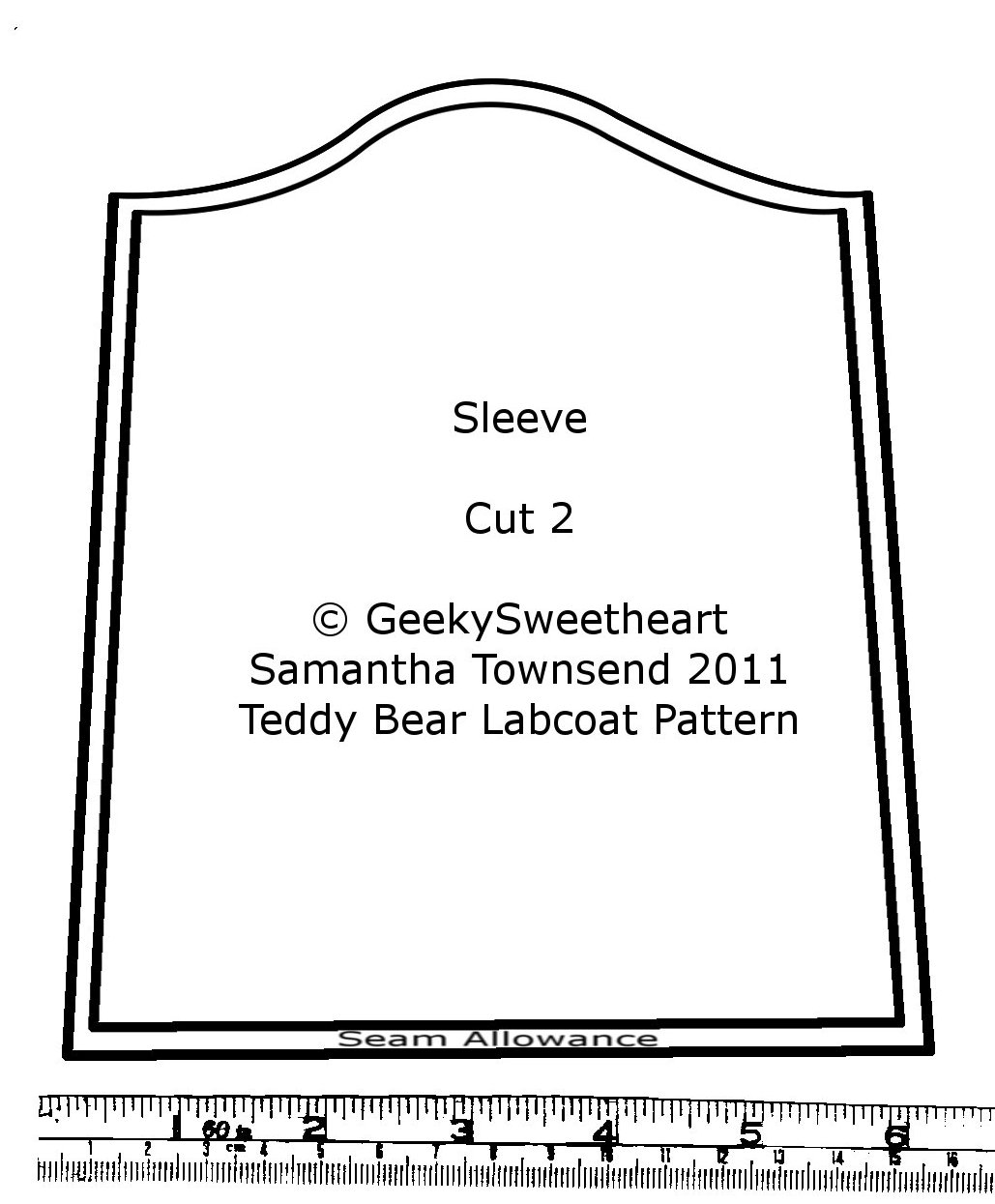 Geekysweetheart teddy bear labcoat with tutorial i forgot to do a pattern piece for the pocket sorry you can figure it out jeuxipadfo Gallery