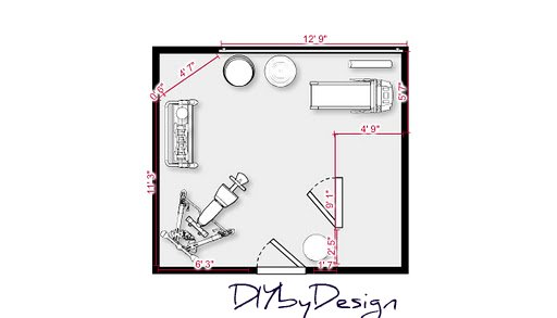 Designing a home gym layout - Home decor ideas
