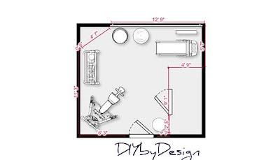 Diy by design starting home goal 1 for Gym floor plan design