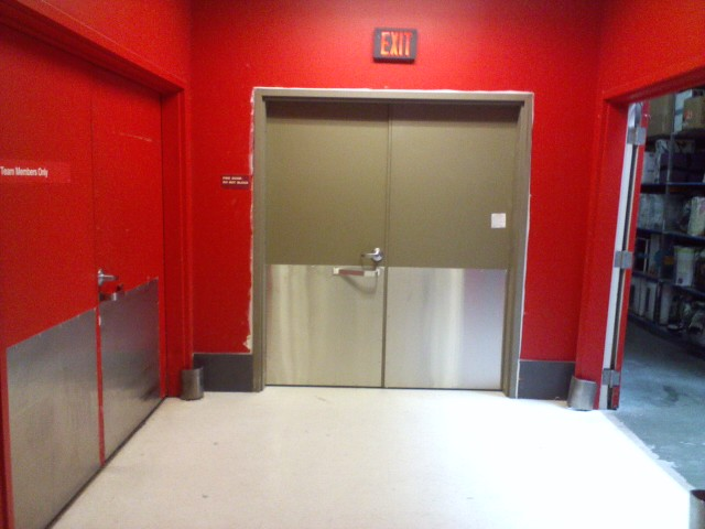The door replaced an existin damaged unit and upgraded the opening with a new frame two new door slabs all new hardware commerical door closers ... & New Steelcraft Commercial Fire Door Installation in Novato | OT Glass