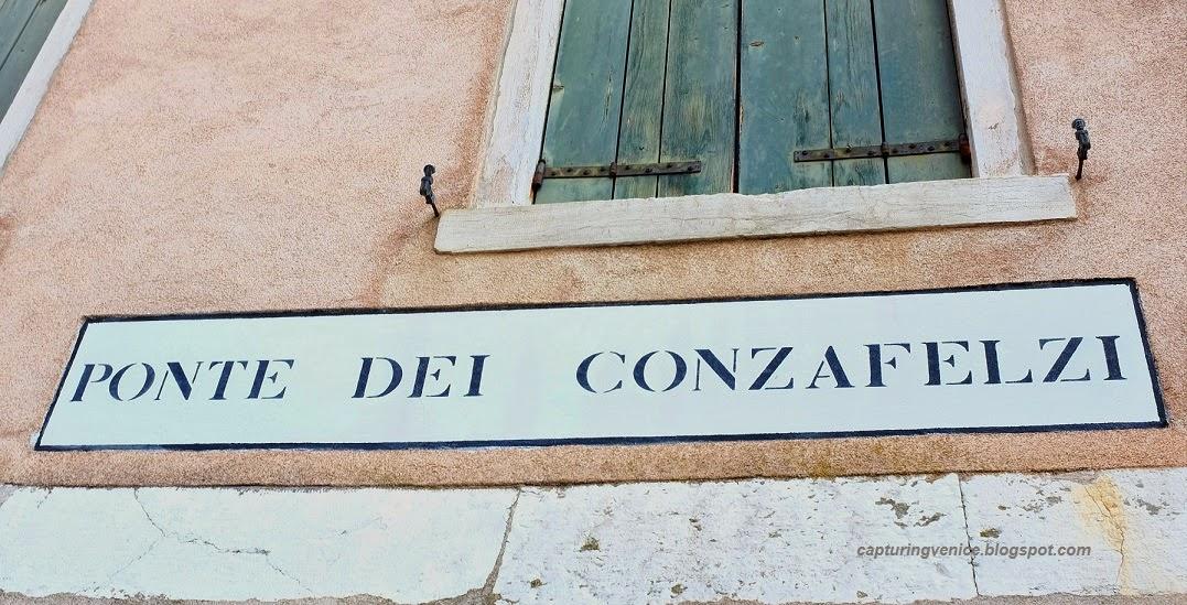 Ponte dei Conzafelzi, Venice capturingvenice.blogspot.com