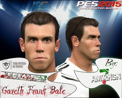 PES 2015 Gareth Bale Face By Ami.Hos7