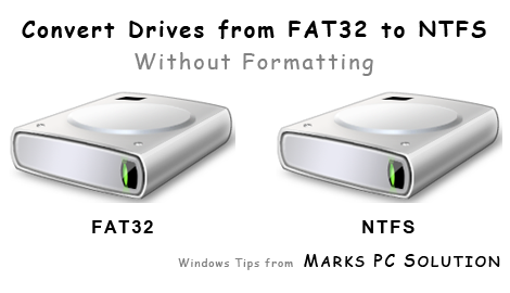 Convert Drives into NTFS without Formatting
