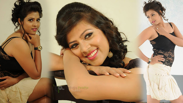 Actress Moulika Latest Photoshoot Stills in Black Top