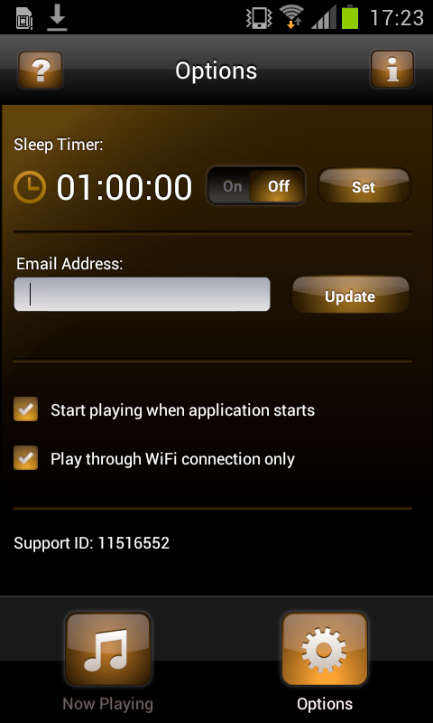 radio andamio app