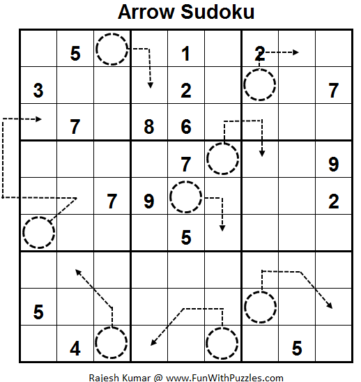 Arrow Sudoku/Assigned Sums (Fun With Sudoku #58)